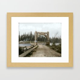 Arch at the entrance to Stanley Park, c.1890's Framed Art Print