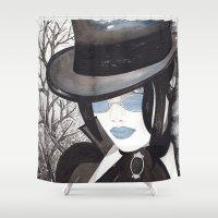 goth Shower Curtains featuring Goth Illustration by Debbie