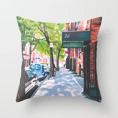 Sunday Morning in Brooklyn, NY Throw Pillow