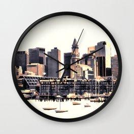 Skyline of Boston Wall Clock