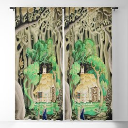 1925 Classical Masterpiece 'Hansel and Gretel by Brothers Grimm' by Kay Nielsen Blackout Curtain