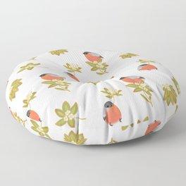 Eurasian bullfinch Floor Pillow