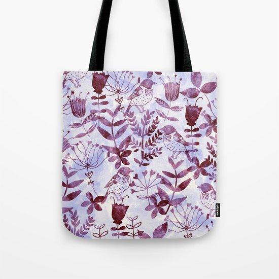 Watercolor Botanical Garden V Tote Bag