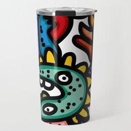 Cool Aztec Creatures Street Art  Travel Mug