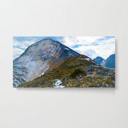 Pyramid Mountain Summit Hike in Jasper National Park, Canada Metal Print