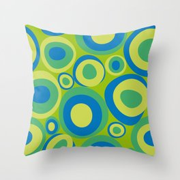 Bubblerom in bluegreen Throw Pillow