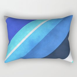 Parallel Blues Rectangular Pillow