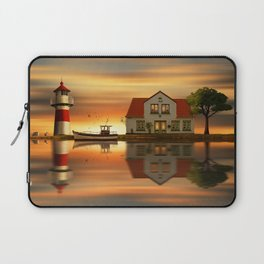 The idyll at the house of the lighthouse keeper Laptop Sleeve
