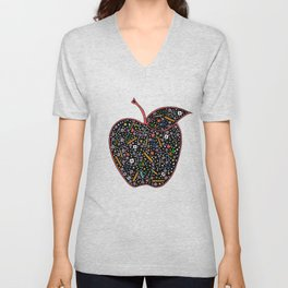 Teacher's Apple colour Unisex V-Neck