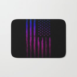 Gradient grunge American flag Black ink Bath Mat