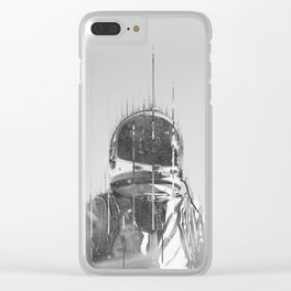 The Space Beyond B&W Astronaut Clear iPhone Case