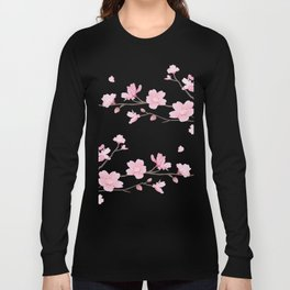 Cherry Blossom - Transparent Background Long Sleeve T-shirt