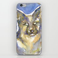 copper iPhone & iPod Skins featuring Copper by Bootsies Watercolor Kittys