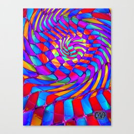 Tumbler #34 Trippy Psychedelic Optical Illusion Design by CAP Canvas Print