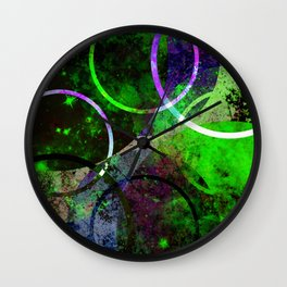 Other Dimensions - Abstract, geometric, textured, space themed artwork Wall Clock