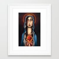 madonna Framed Art Prints featuring Madonna by Alice Celia Lioniello
