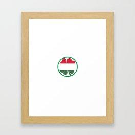 Irish Today Hungarian Tomorrow St Patrick's Day print Framed Art Print