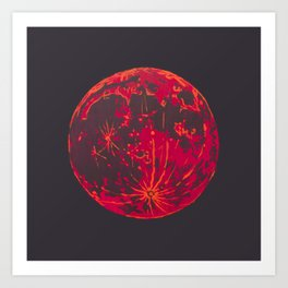 Blood Moon 1 Art Print