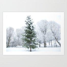 Finnish winter Village Fiskars Art Print