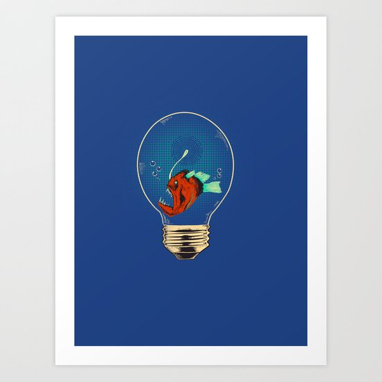 Anglerfish bulb Art Print