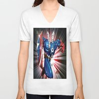 captain V-neck T-shirts featuring Captain.... by wOlly