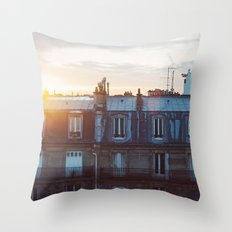 Bonjour Paris! Throw Pillow