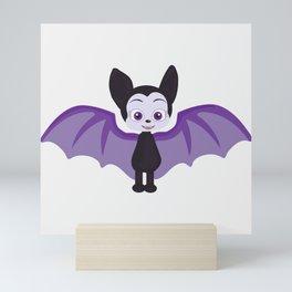Purple bat  Mini Art Print