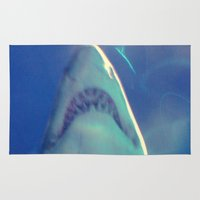 jaws Area & Throw Rugs featuring Jaws by Bunhugger Design