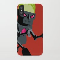 robot iPhone & iPod Cases featuring Robot by Marco Recuero