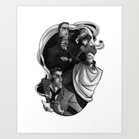 scandal Art Prints featuring A Scandal in Bohemia by Erin Rae Watson