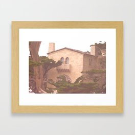 House Along the Coast Framed Art Print