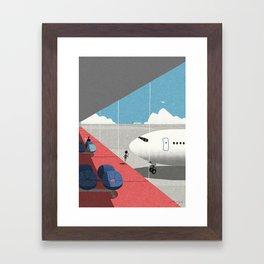 Departure lounge Framed Art Print