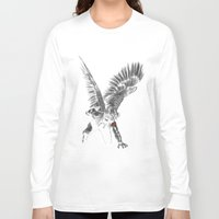 winter soldier Long Sleeve T-shirts featuring winged winter soldier by Zee Mendoza