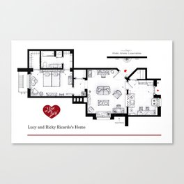 Lucy and Ricky Ricardo home from 'I LOVE LUCY' Canvas Print