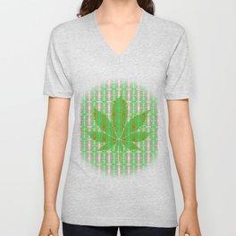 Marijuana Leaf Unisex V-Neck