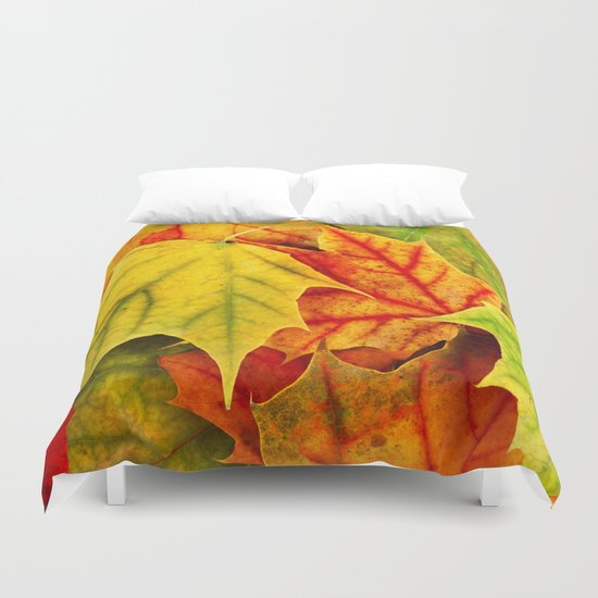 Color Leaves Duvet Cover