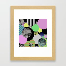 Cluttered Circles - Abstract, Geometric, Pop Art Style Framed Art Print