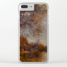 Lakeside Glow Clear iPhone Case