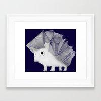 hedgehog Framed Art Prints featuring Hedgehog by Brontosaurus