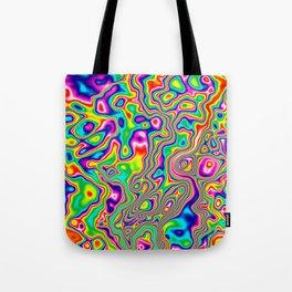 Warped Rainbow Tote Bag