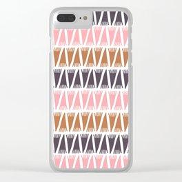 Tee Pee Fashion Clear iPhone Case