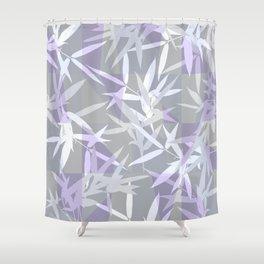 Elegant Grey Origami Geometric Effect Design Shower Curtain