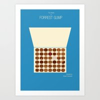 forrest gump Art Prints featuring Forrest Gump by Tommaso Valsecchi