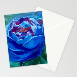 Abstract Blue Rose Stationery Cards
