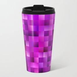Purple rectangle pattern Travel Mug
