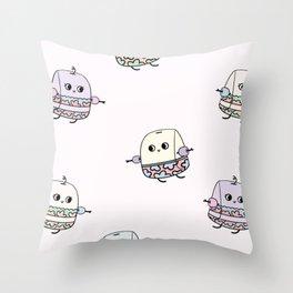 Swimming Tea Bag Throw Pillow
