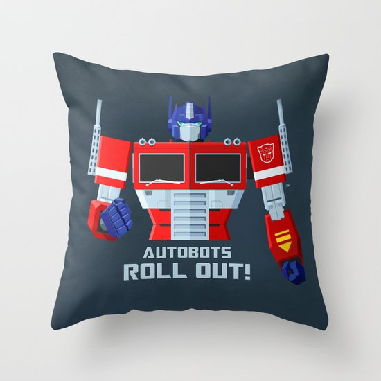 Autobots, Roll out! (Optimus Prime) Throw Pillow