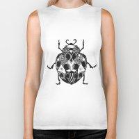 ladybug Biker Tanks featuring Ladybug by SilviaGancheva