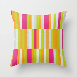 Stripes - Spring Neon Colors Throw Pillow