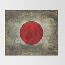 The national flag of Japan Throw Blanket